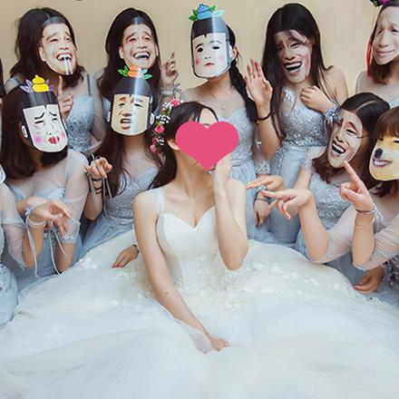 婚礼堵门整蛊面具套装