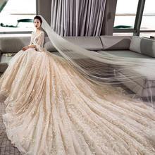 香榭•欧式宫廷孕妇遮肚显瘦婚纱•送三件套