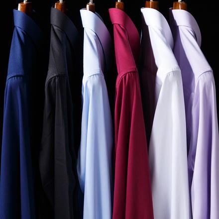 多色可选男士纯色长袖衬衫