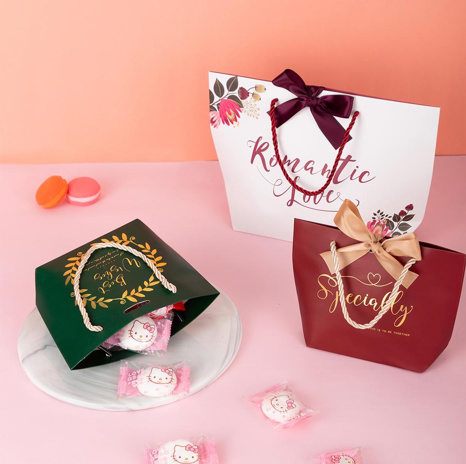 【可装烟装毛巾】邂逅浪漫手拎袋喜糖盒