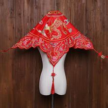 中式刺绣高档秀禾服红盖头
