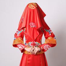 中式古典刺绣流苏红色盖头