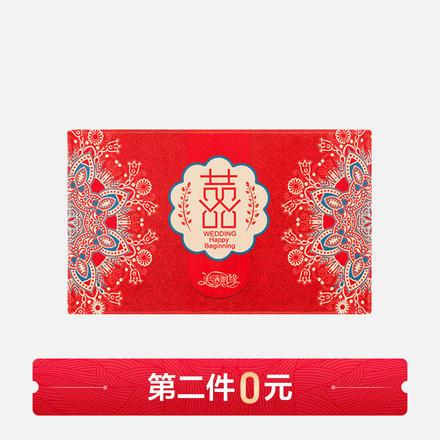 【买一送一】中式红色喜字印花新婚地垫