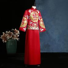 中式男式刺绣礼服