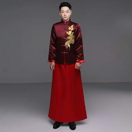 中式唐装古代男士礼服