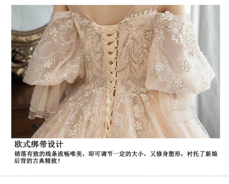 森系梦幻奢华高腰遮孕肚婚纱