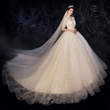 森系显瘦超仙梦幻中绣婚纱•送三件套