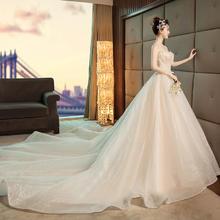 法式奢华超仙抹胸婚纱•送三件套