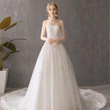 沉静的弗洛拉•法式简约赫本婚纱•送三件套