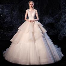为爱加冕•法式奢华显瘦无袖婚纱•送三件套