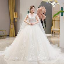 伯爵的天使•法式奢华无袖婚纱•送三件套