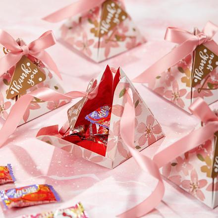 粉色悸動金字塔成品喜糖(含糖)