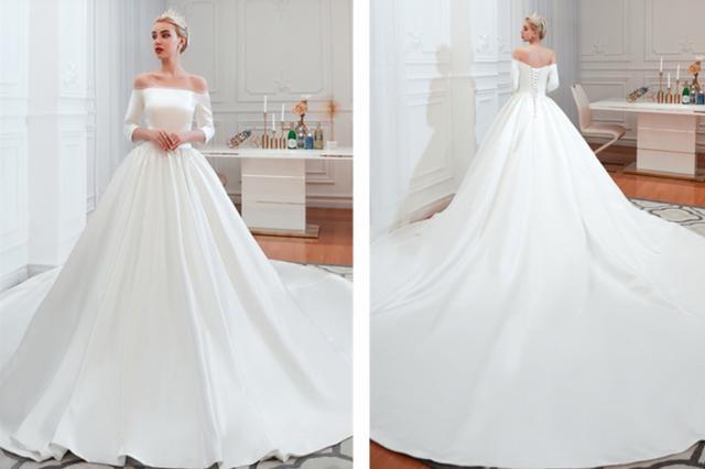 适合冬天的婚纱款式