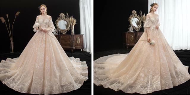 适合冬天穿的纱质婚纱