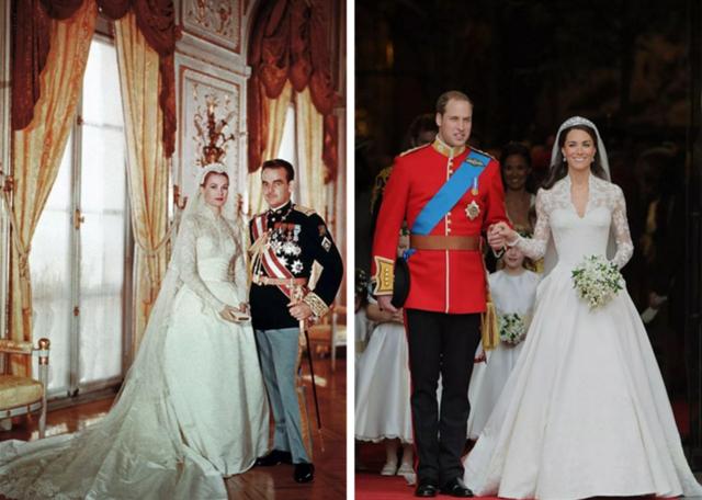 王室结婚用的长袖婚纱