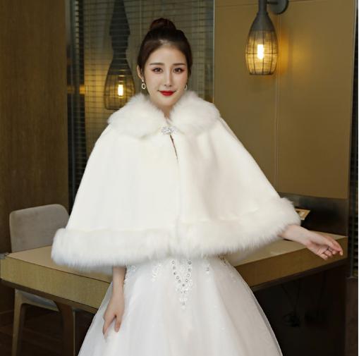 斗篷式婚纱披肩