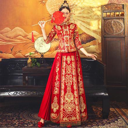 锦绣系列•中式修身连理枝秀禾服
