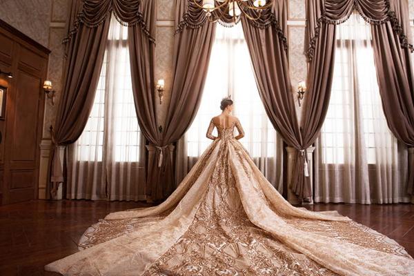 古典宫廷风格欧式婚纱