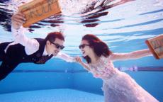 水底婚纱照怎么拍的