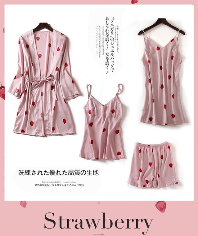 可爱草莓晨袍