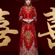 婚纱中式礼服图片