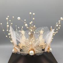 仙气新娘皇冠耳环两件套