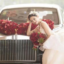 婚车装饰图片 婚车怎么扎花好看
