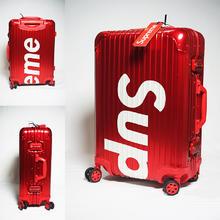 Supreme正品全铝潮牌行李箱 双色可选
