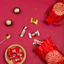 中式锦缎绸缎喜糖袋含糖