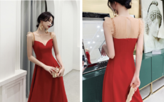 红色婚纱礼服图片大全