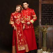 黄晓明同款新郎中式礼服