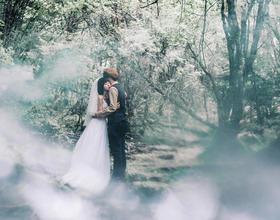 婚纱照森系风格图片 森系婚纱照怎么拍好看