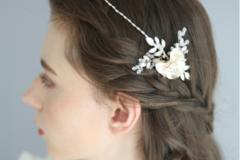 韩式新娘婚纱发型