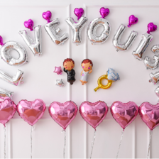 结婚气球造型图片大全