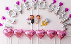 简单婚房气球布置图片