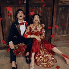 婚纱照中式风格照片 搞怪中式婚纱照怎么拍