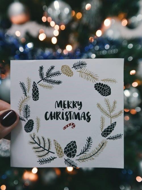 圣诞节送花卡片写什么情话