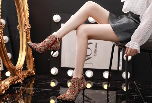 冬季短靴婚鞋