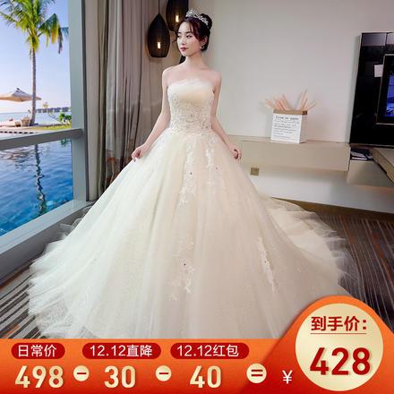 《天鹅之吻》超仙梦幻蕾丝抹胸婚纱