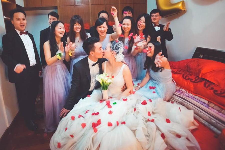 婚礼当天接亲现场