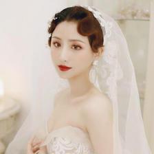 短发结婚当天新娘头怎么做最好看
