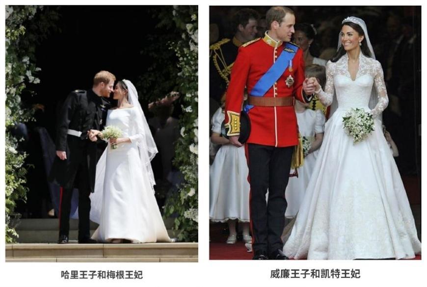 英国王室长袖婚纱