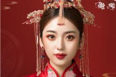 中式新娘头饰效果图