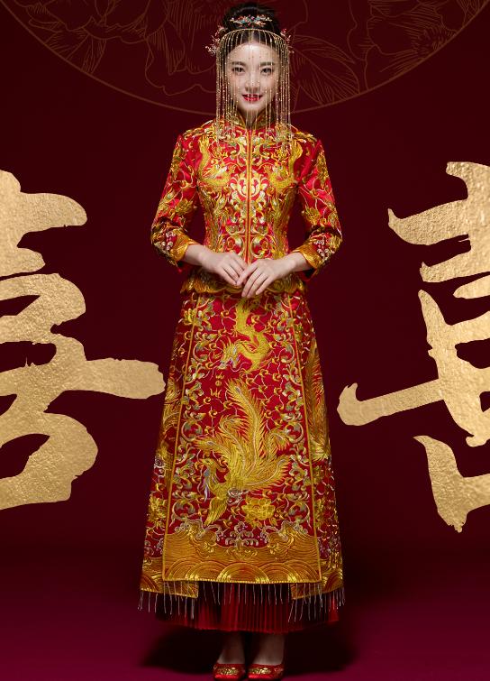 唐装结婚礼服龙凤褂款式2