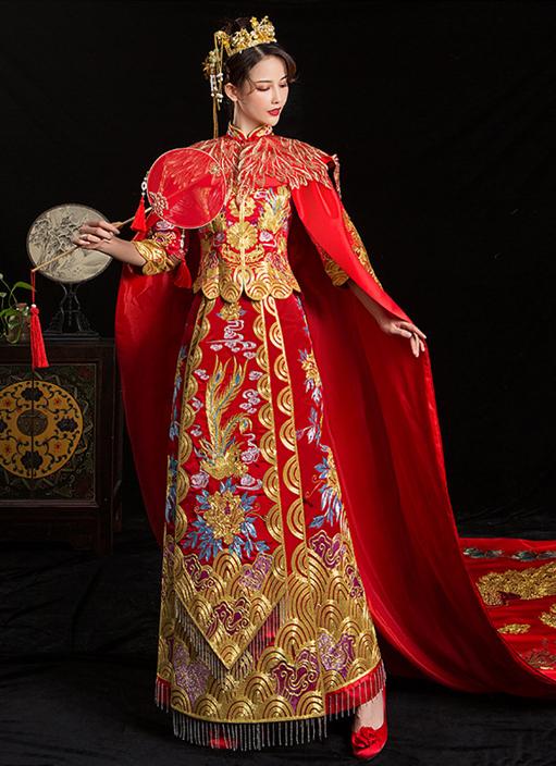 唐装结婚礼服龙凤褂款式3