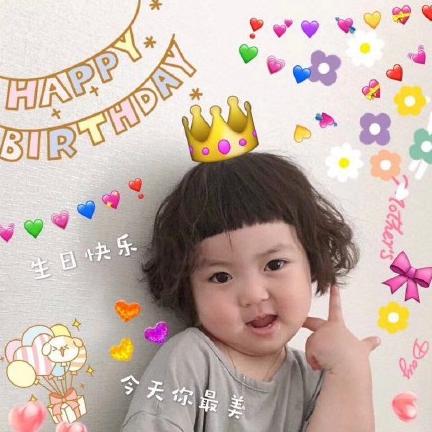 生日快乐可爱表情包