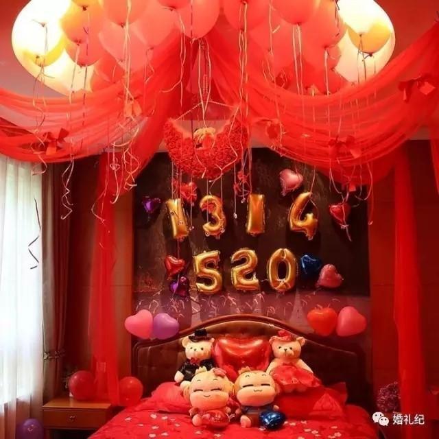 丑陋气球婚房布置图片