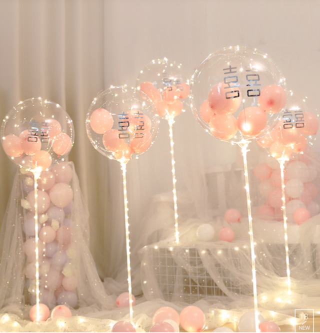 西式气球婚房布置小物图片1