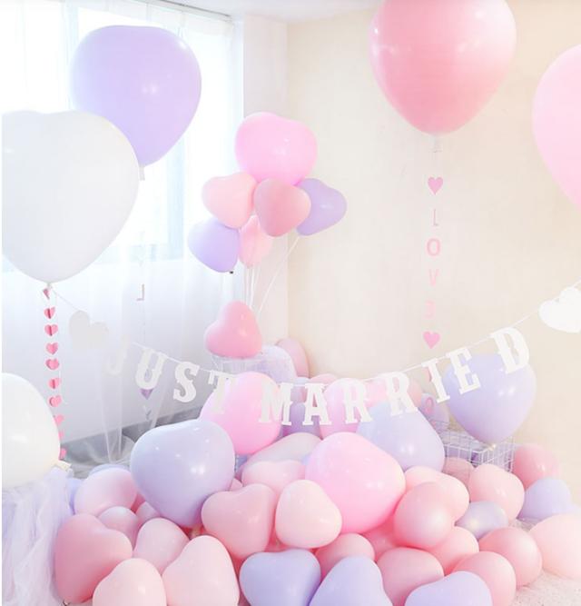 西式气球婚房布置小物图片5