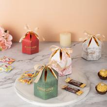 欧式森系创意六角形喜糖盒回礼
